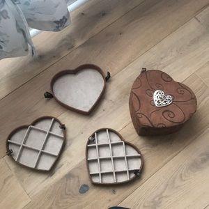 Brighton Stackable Tray Jewelry Box Heart